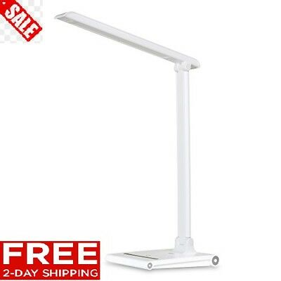 August LEC315 - Dimmable LED Desk Lamp with USB Port - Office Work Light with 3