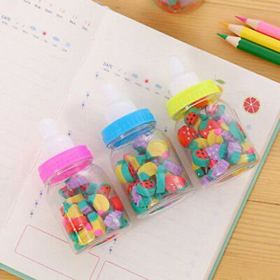 26pcs Cute Mini Fruit Rubber Pencil Eraser For Children Stationery/Gift/Toy New