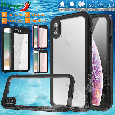 Waterproof Dirt Shockproof Touch Case Full Cover For iPhone XS MAX XR X 8 7 Plus