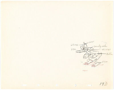 DONALD DUCK FIREMAN Mickey Mouse Fire Brigade DISNEY PRODUCTION CEL DRAWING 1935