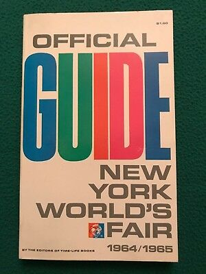 Official Guide New York World's Fair 1964-1965 Paperback Book, Excellent Condit.