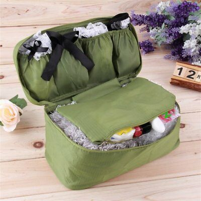 Travel Portable Underwear Organizer Cosmetic Bag Luggage Storage Bra Pouch H