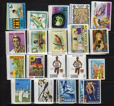 Ghana Stamp Collection — (19) Sets + (11) S/s — 1972 — Mint