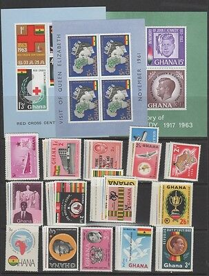 Ghana Stamp Collection — (26) Sets+ (5) S/s — 1957 — Mint