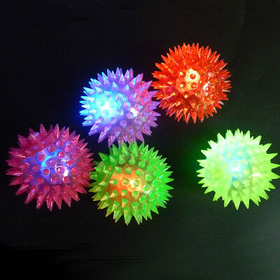 5 PCS Colorful Flashing Light Pet Hedgehog Ball Creative Puppy Toy Dog Supplies