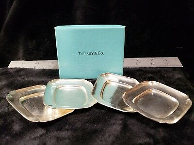 Tiffany & Co 925 sterling silver set of 4 small dishes