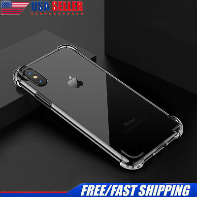 Hybrid Shockproof Clear TPU Hard Bumper Cover Case Fit For iPhone Xs Max XR Xs X