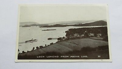 Postcard Loch Lomond from above Luss. Unposted.