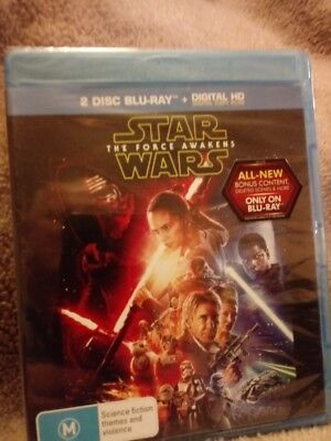 Star Wars The Force Awakens Blu-ray Region Free New & Sealed cheapest on ebay