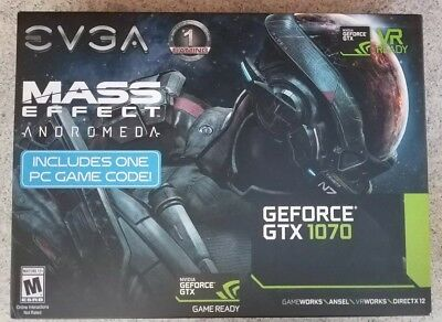 EVGA GeForce GTX 1070 8GB  Gaming Video Card with ACX 3.0 Cooling