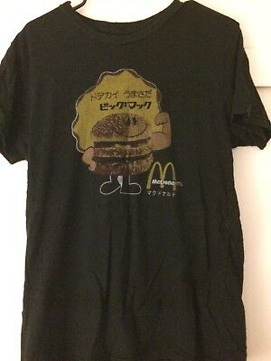 *PREOWNED* MCDONALDS JAPANESE BIG MAC VINTAGE STYLE TEE Medium URBAN OUTFITTERS