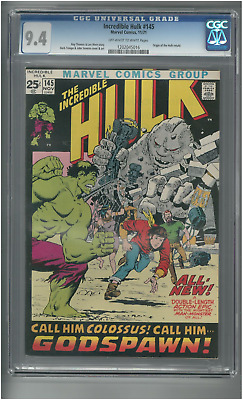 Incredible Hulk # 145 -Nov 1971- Cgc 9.4 - Off White/white Pages - Free Shipping