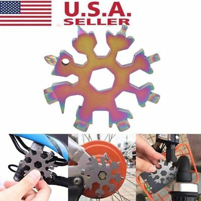 New Snowflake multi-tool 18-in-1 functions Compact and Portable Outdoor Tools US