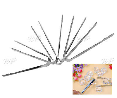 Stainless Steel Sugar Clamp Tongs Clip Ice Cube Coffee Bar Buffet Kitchen Tool