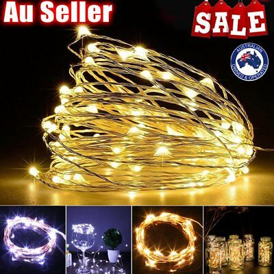 3M 30 LEDs Battery Operated LED String Lights With Milky White Battery Case