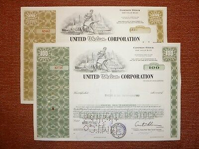 US: 2 x United Whelan Corporation, 1966, 1967, div.+ 100 Shares.  TABAK