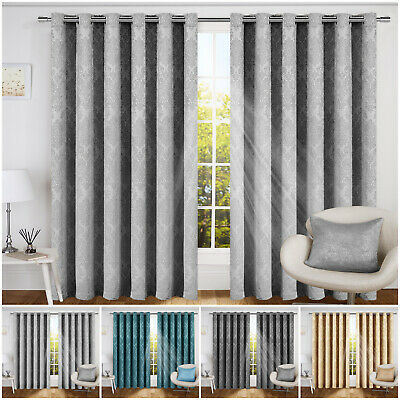 Natural Thermal Door Curtain Ring Top Eyelet Blackout Curtains with Free Tieback
