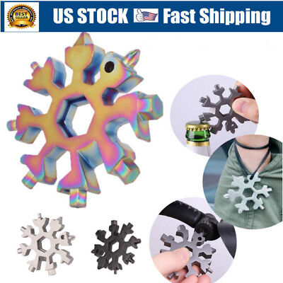 Snowflake Multi Tool 18-1 Steel Shape Flat Cross Household Hand Tool Snow Flake