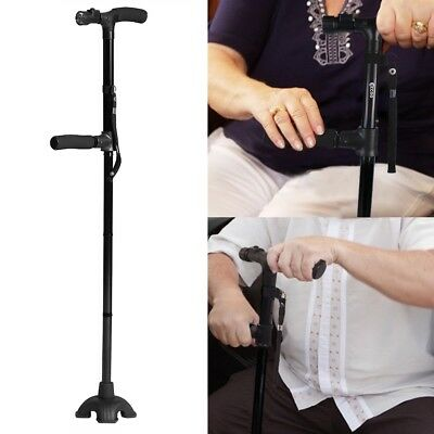 Walking Stick with Light Folding & Height Adjustable Foldable Free Standing New