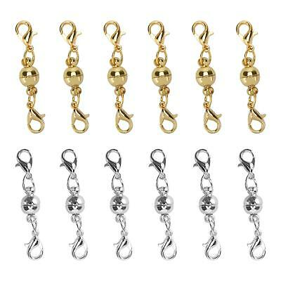 5pcs Ball Tone Magnetic Lobster Clasps for Jewelry Necklaces Gold Silver 6mm