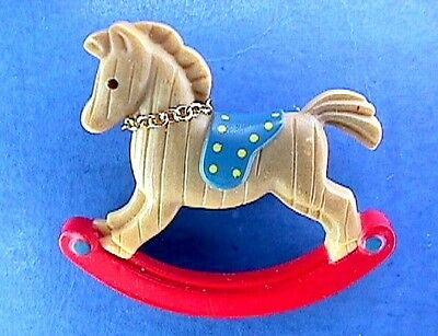 BUY1&GET1@50%~Avon PIN Christmas ROCKING HORSE Vtg 1985 Holiday Jewelry BROOCH