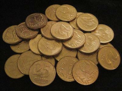 Israel 25 Agorot 1978 brass CH BU lot of 25 BU coins