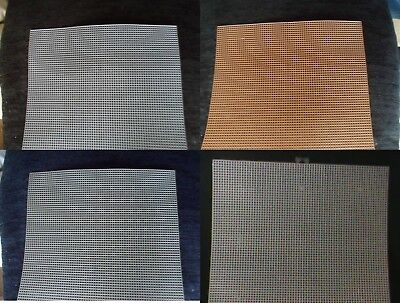 PLASTIC MESH CANVAS 7 COUNT STITCH FABRIC CRAFTS  10.5 x 13.5 inches - colours