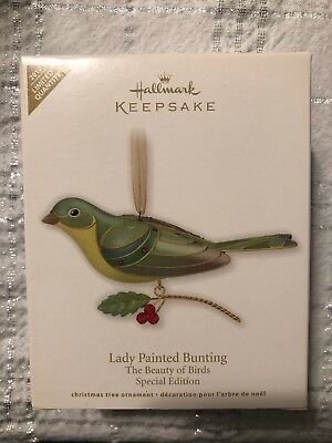 2012 Hallmark Lady Painted Bunting Special Edition Ornament The Beauty of Birds