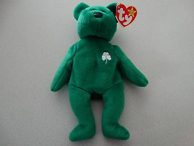 Erin Ty Beanie Baby 1997 ***WITH ERRORS*** Mint Condition