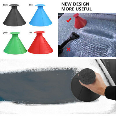 4Pcs Cone Shaped Removable Shovel Snow Ice Scraper for Car SUV Window Windshield