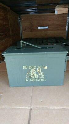 Us Military Issue (M2A1) 50 Cal Ammo Can Box Army Surplus Sold Empty.