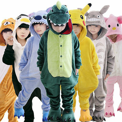 Kids Girls Boy Pajamas Kigurumi Unisex Cosplay Animal Costume bodysuit Sleepwear