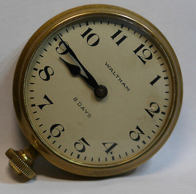 Waltham Watch 8 Day Car Clock 1932  Excellent. Working