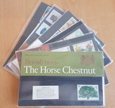 1974 Royal Mail Commemorative Presentation Packs. Each sold separately.