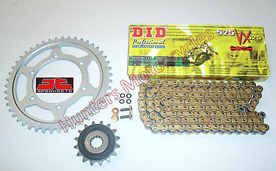 Kawasaki ZX6R J1 J2 DID Gold X-Ring Chain & JT RB Front & Rear Sprockets Kit Set