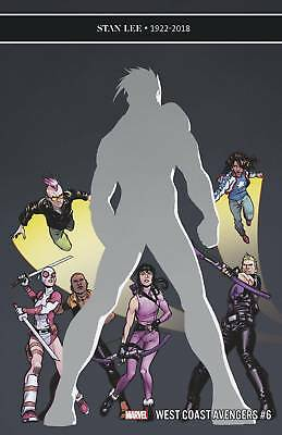 West Coast Avengers #6 - Marvel - Release Date 19/12/18