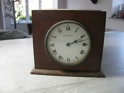 Old  Mappin And Webb Wooden Clock French Movement parts or restore
