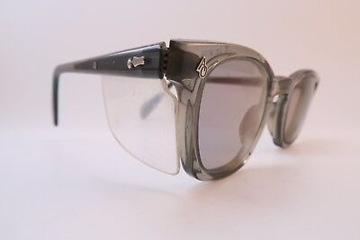 Vintage 50s safety glasses sunglasses American Optical USA etched lenses 46-24