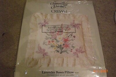 crewel embroidery  lavender pillow kit
