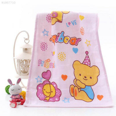 1DD2 Comfort Soft Cotton Cartoon Flower-Printed Baby Face Towel Embroidery Newbo