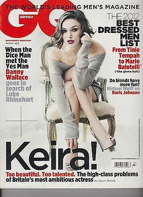 GQ BRITISH MAGAZINE MARCH 2012, Sexy KEIRA KNIGHTLEY Pirates Of Caribbean.