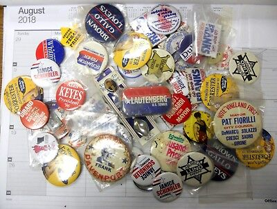 Group of 53 Mixed Campaign buttons Presidential, City, County and State Campaign