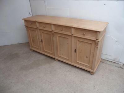 A Lovely 6 Ft Reclaimed Pine 4 Door Kitchen Dresser Base to Wax/Paint