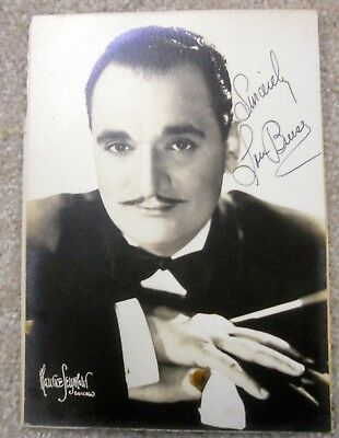 Hand Autographed Picture Big Band Leader and Musician Lou Breese