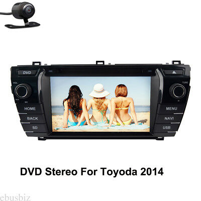 2Din Android 7.1 Car Radio DVD Player GPS Map Wifi Touch For Toyoda 2014+Camera