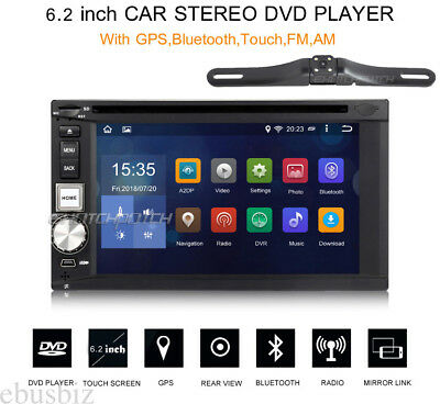 Android 7.1 Car Radio Stereo DVD Player GPS BT Wifi 4G Touch USB SD Map+Camera