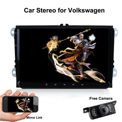 """9"""" Stereo Player GPS WiFi Bluetooth OBD2 Android 8.1 for VW Passat Tiguan Golf"""