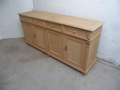 A Lovely 2 Metre Reclaimed Pine 4 Door Kitchen Dresser Base to Wax/Paint