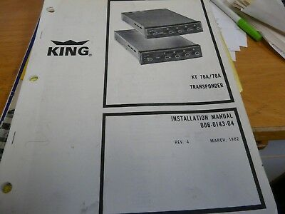 kt76a transponder installation manual