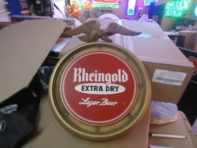 Rare Antique Vintage Rheingold Beer Sign Boat Unused In Original Box Eagle